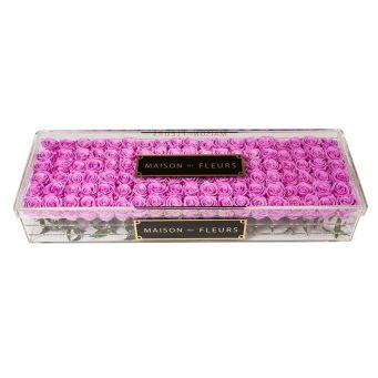 acrylic clear large rectangular box