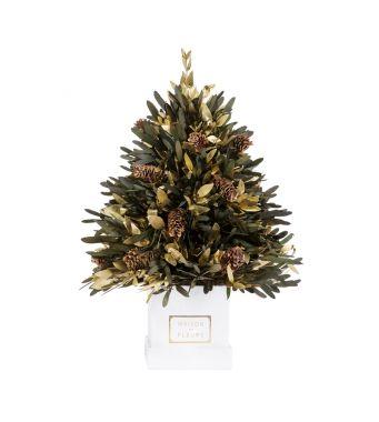 Mini Christmas tree in a 15x15 cm White square box